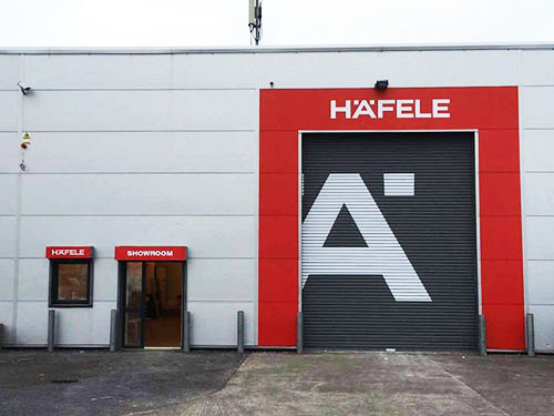 Front shop signage for Hafele