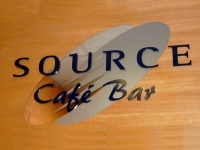 Steel lettering for Source Cafe Bar