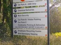 Wayfinding directory sign for GSK.