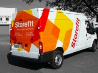 full vehicle wrap for Storefit