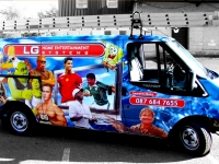 full vehicle wrap for LG Home Entertainment Systems