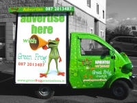 full vehicle wrap for Green Frog Promotions