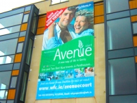 PVC printed banner for buildings