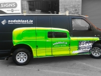 Partial Vehicle Wrap for Sodablast