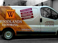 Partial Vehicle Wrap for Woodlands Flooring
