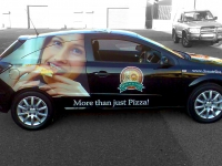 Partial Vehicle Wrap for Woodlands for Donatellos Pizza