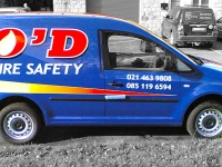 Partial Vehicle Wrap for Woodlands for OD Fire Safety