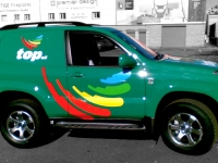 Vehicle Sign Writing for Top Oil