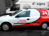 Vehicle Sign Writing for 24/7 Couriers